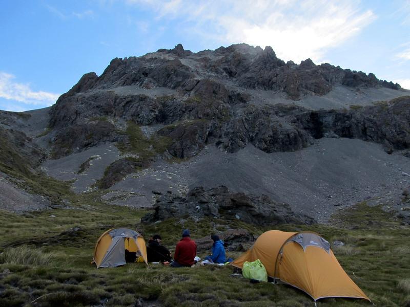 Our camp below Pt 2169m.
