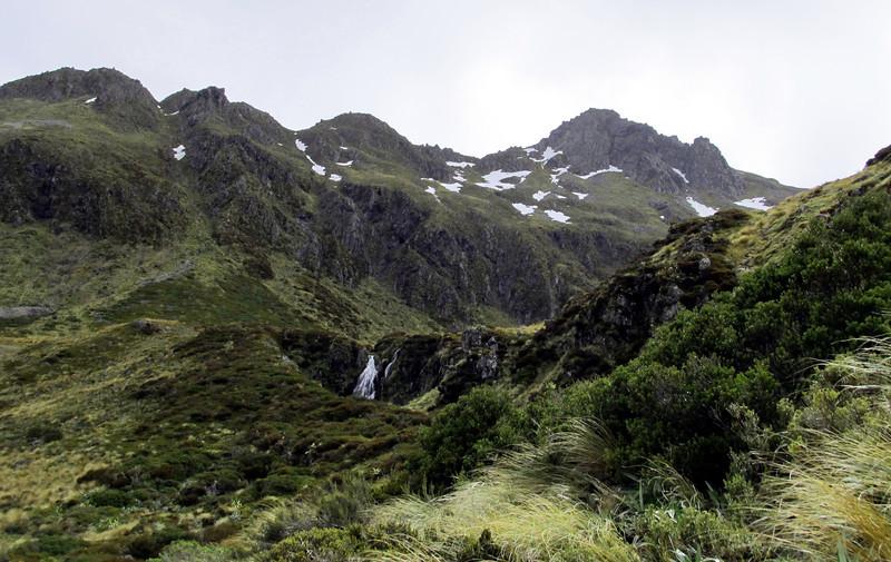 Waterfalls in the Lake Man basin.