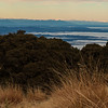 Looking down the spine of the Southern Alps to Tasman and Cook on the far right.
