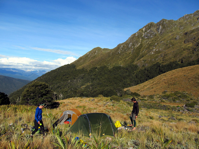 Our camp in a basin north of Pt 1540m.