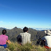 The team enjoying he views from the summit Mt Kemp.