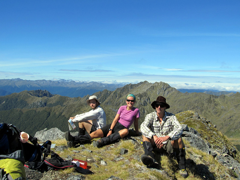 ..and on top of Mt Haast, Mt Kemp behind.