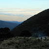 Enjoying our camp fire (photo- James Thornton).