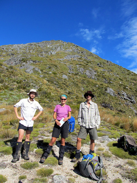 The team just below Mt Haast...
