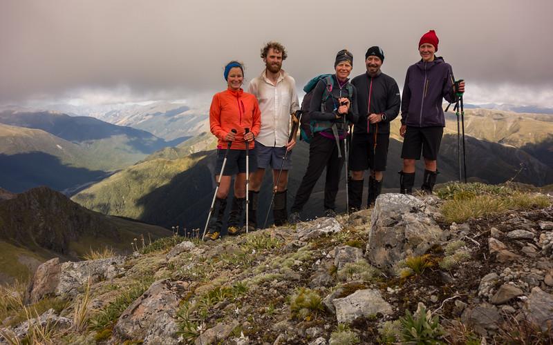 The team on Mt Lakeman.