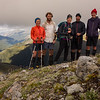 The team on Mt Lakeman.