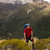 David happy to be above bushline opposite Mt Barron.