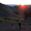Sunrise on our way to the Longfellow ridge.