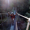Crossing the Jollie Brook swingbridge.