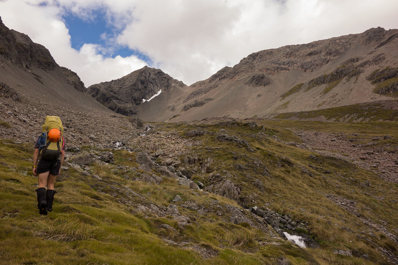 Below Clarence Pass, Belvedere Peak in the centre.