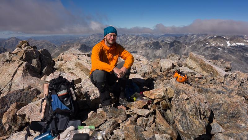 James on the summit of McKay.