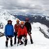 The team on Belvedere Peak, Mt Paske on the left.