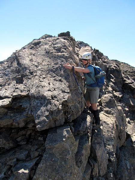 Some scrambling along the ridge.