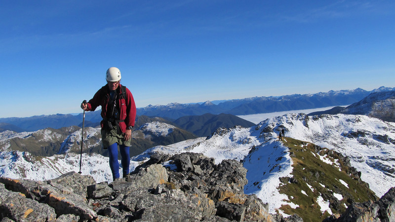 Charles on the west ridge of Mt Technical.