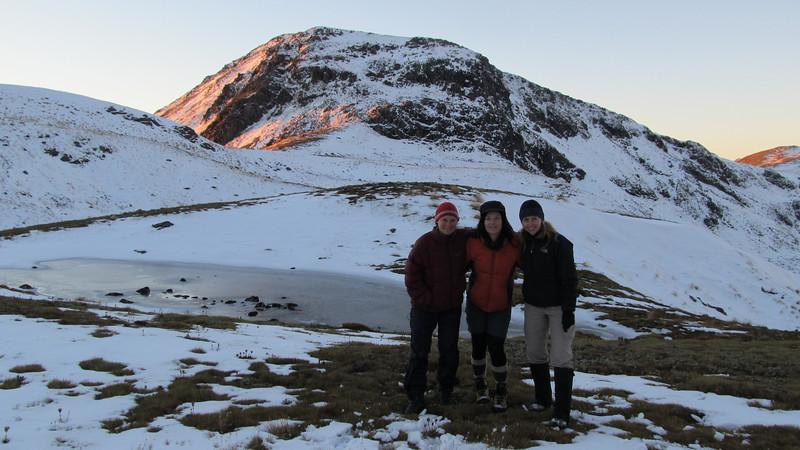 Camp in the head basin of Deer Valley.: Nina, Laurayne and Karen.