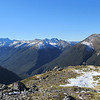 Lewis Pass tops, Spenser Mountains on the left.