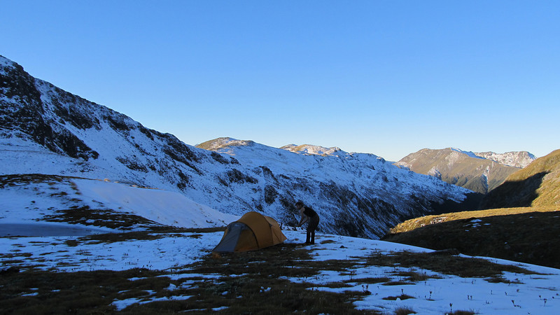 Camp in the head basin of Deer Valley.
