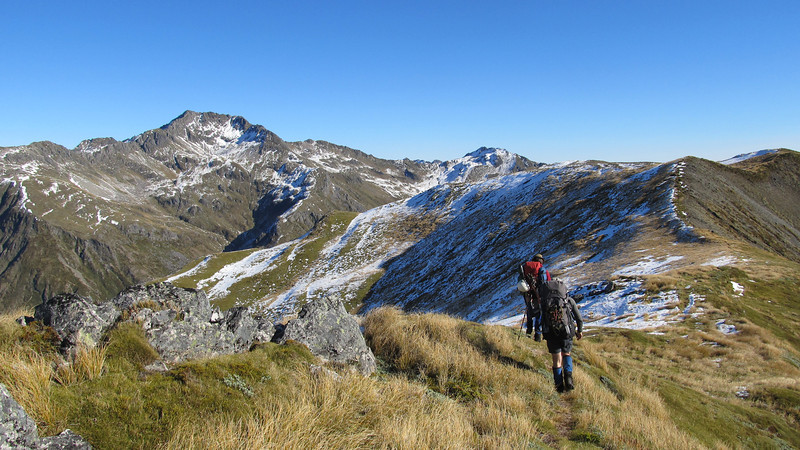 Along the Lewis Pass tops, Mt Technical on the left.