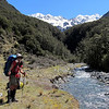 Crossing unnamed creek north of Glacier Gully.