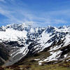 Back along the ridge north of Glacier Gully, Mt Una in the centre.