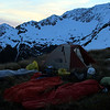 Our camp/bivvy site with Mt Una above.