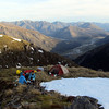 Our camp/bivvy site above the Waiau Valley.