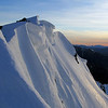 The corniced north-east ridge of Mt Una.