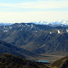 Lake Tennyson and the Seaward Kaikouras above. Te ao Whekere in the centre, Manakau on the right.