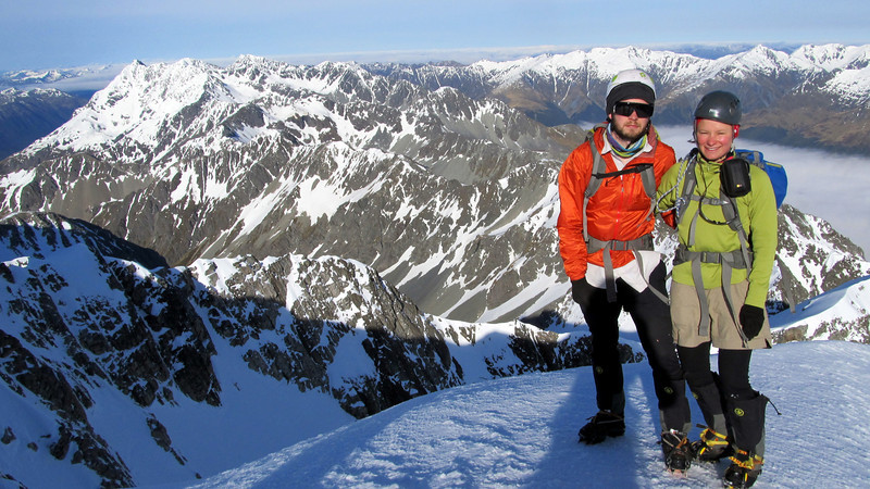 James and I on the summit of Mt Una,