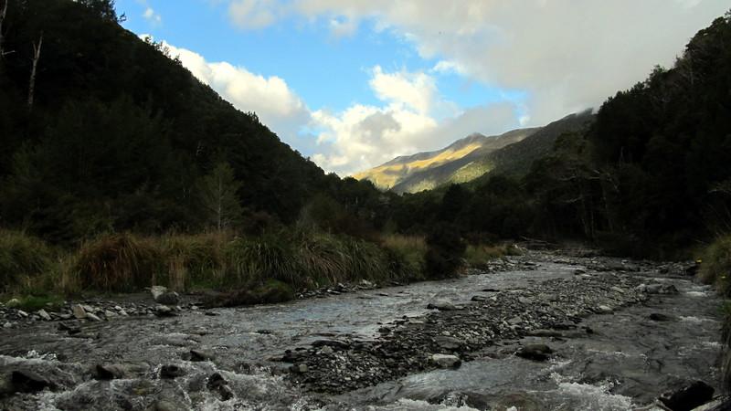 Pell Stream near the hut.