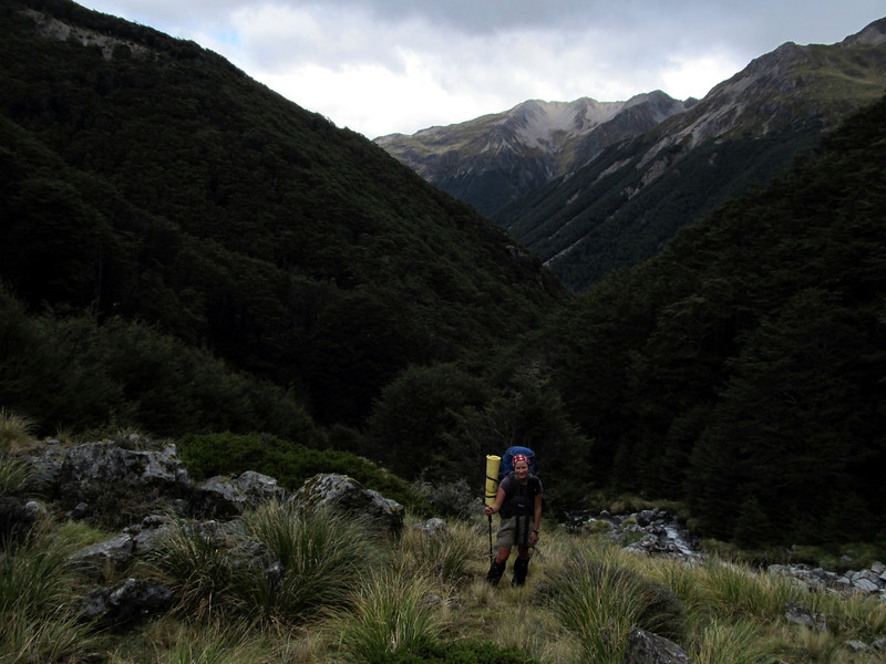 Above bushline below the saddle between the Begley and Connors Creek.