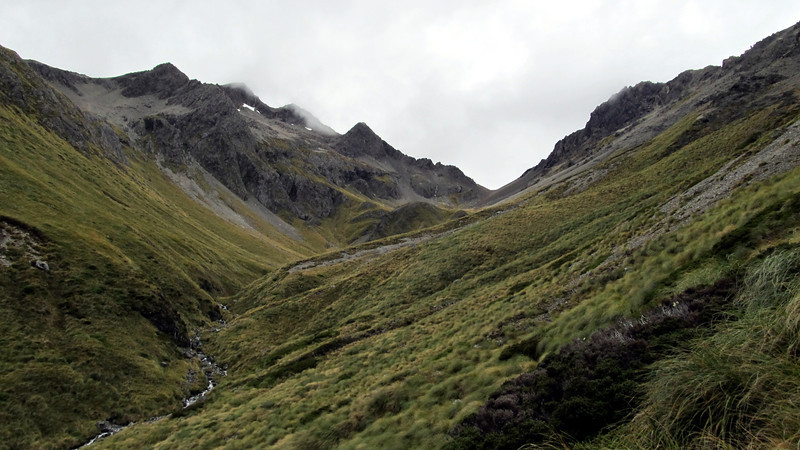 Approaching the saddle between the Begley and Connors Creek, Mt Chittenden on the left.