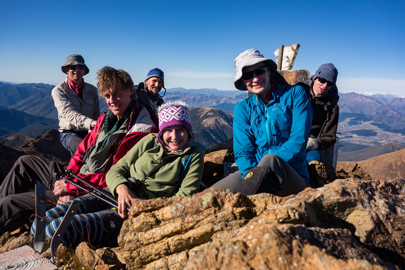 The team on the summit of Red Hill.