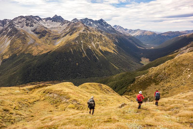 Descending to Ada Pass (photo - James Thornton).