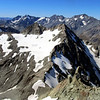 Looking towards Mt Arrowsmith over the top of Outlaw Peak.