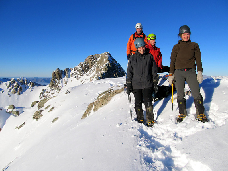 The team on the summit of Hakatere Peak.