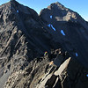 Climbing the South Ridge of Alma. Mt Achiles behind.
