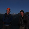 Silvia and me on Alma Col, Mt Sibbald between us.