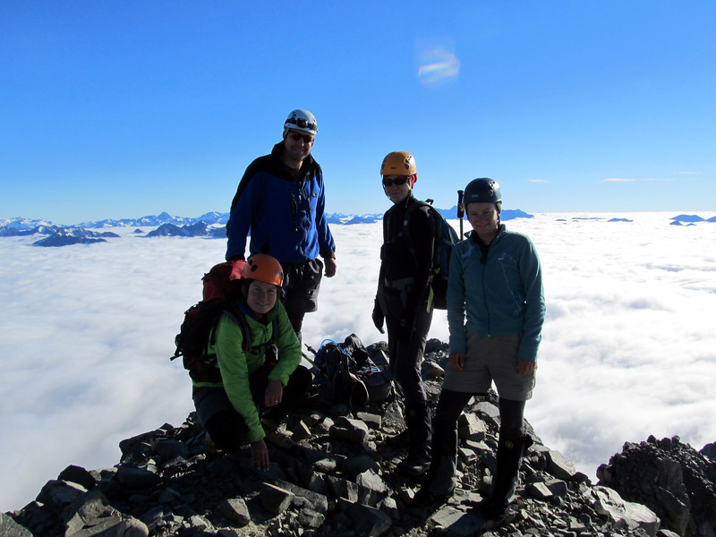 The team on the summit.