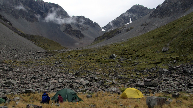 Camp at the head of Alma Stream.