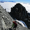 Descending the East Ridge.