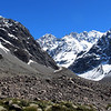 View of the carriageway - from where we accessed the South Cameron glacier. Couloir Peak and Twins above it.