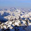 Mt Sefton, Mt Cook, Mt Tasman, Minarets and Elie de Beaumont on the horizon from the summit of Arrowsmith.
