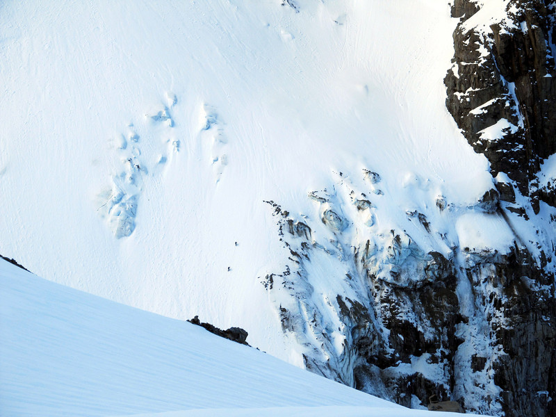 Marta and Andrew making their way up to their high camp below Couloir Peak.