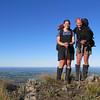 Kat and Nina above the Canterbury plains.