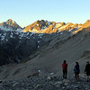 Sunset stroll near camp. Mt D'Archiac and Mt Forbes left of the centre.