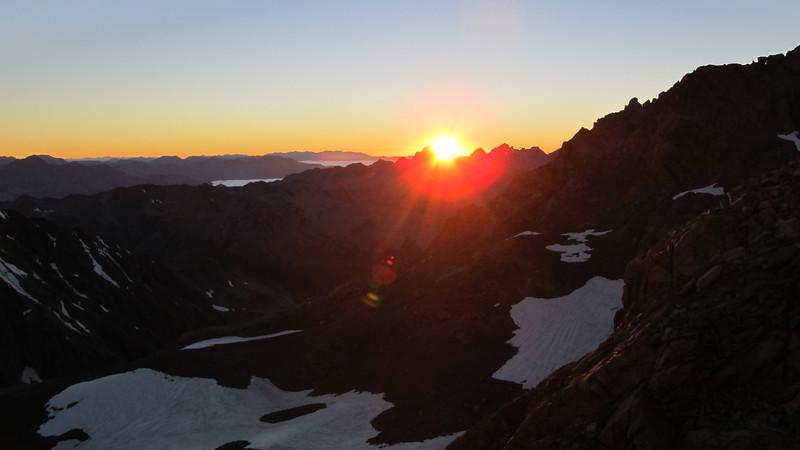 Sunrise above the Two Thumb Range.