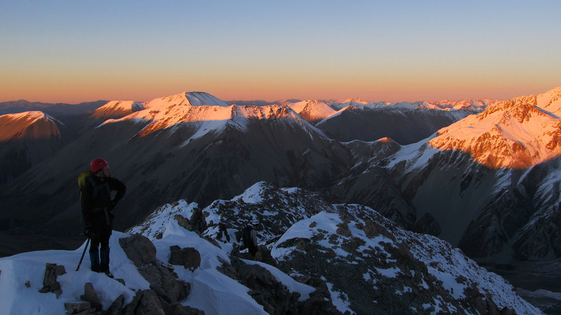 On the south west ridge of the Marquee at sunrise.