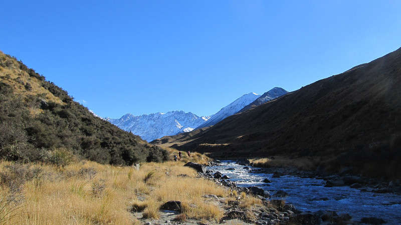 Walking up the Cameron Valley.