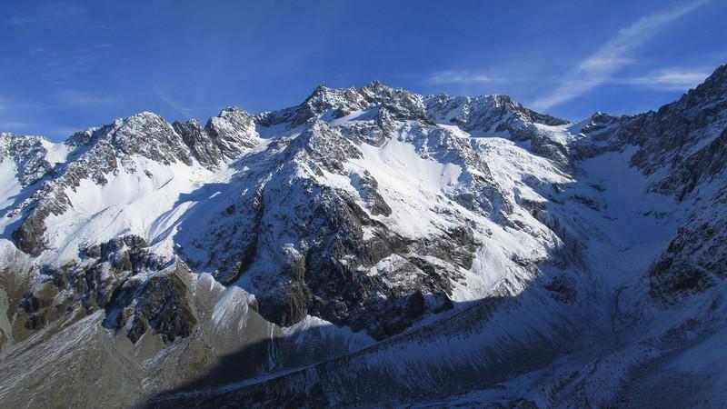 Mt Arrowsmith and the Cameron Glacier.